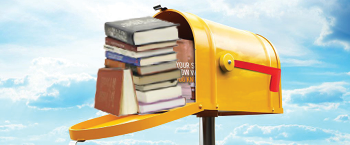 Library by mail image, books in a mailbox