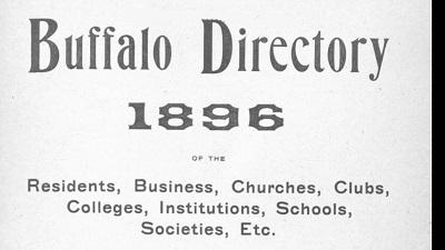 Buffalo City Directories 1832-1913