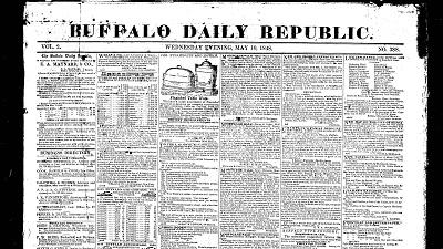 Early Buffalo, Buffalo Daily Republic (1848-1886)