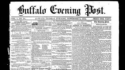 Early Buffalo, Buffalo Evening Post (1852-1886)