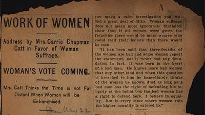 Woman suffrage : newspaper clippings May, 1900-Nov., 1910