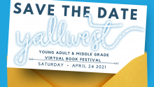 "picture of a card that says "" Save the Date Yallwest"""