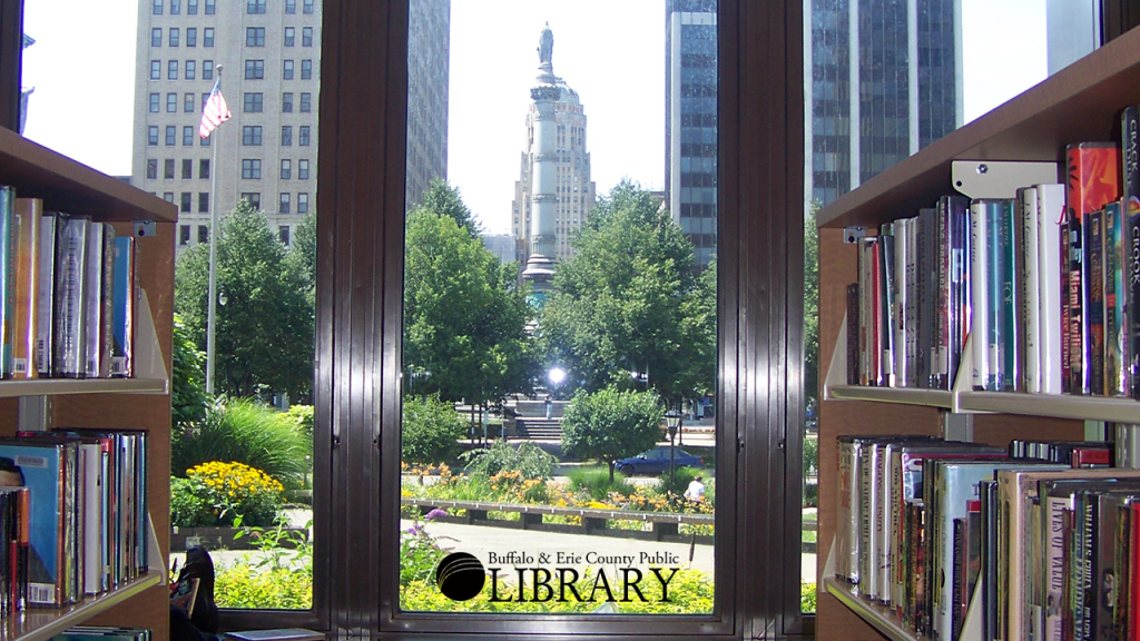 Looking out from the downtown Buffalo Central Library