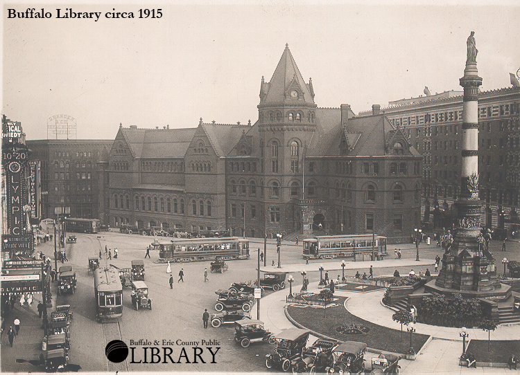 Zoom Buffalo Library circa 1915