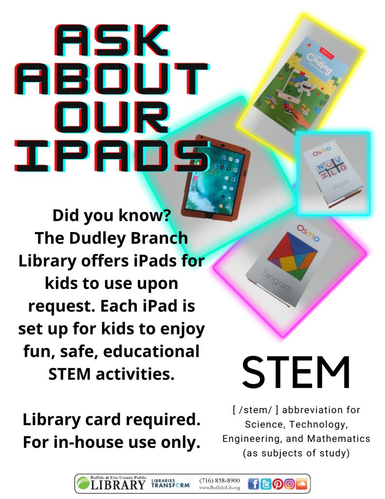 iPad advertisement flyer