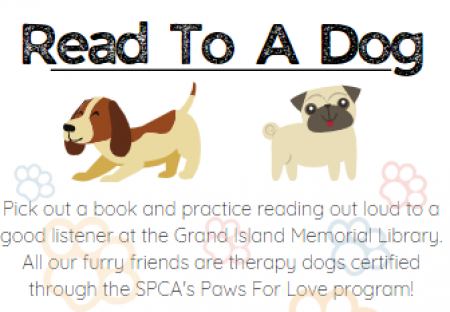 Flyer for Read To Dogs