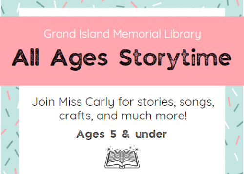 Flyer for All Ages Storytime