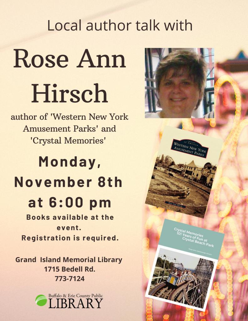 Local Author: Rose Ann Hirsch