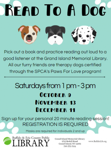 Flyer for Read to a Dog