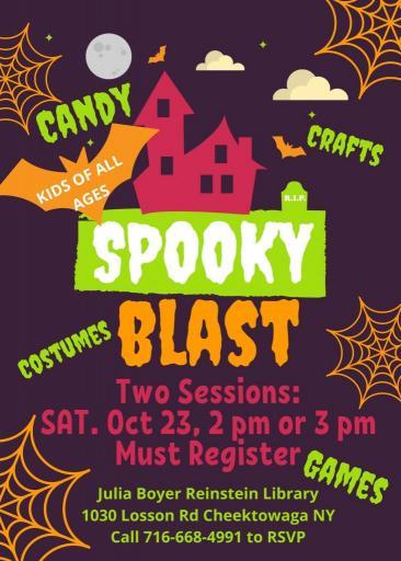 Spooky Halloween Costume Blast for Kids on October 23rd