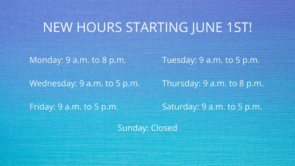 June 1 Hours