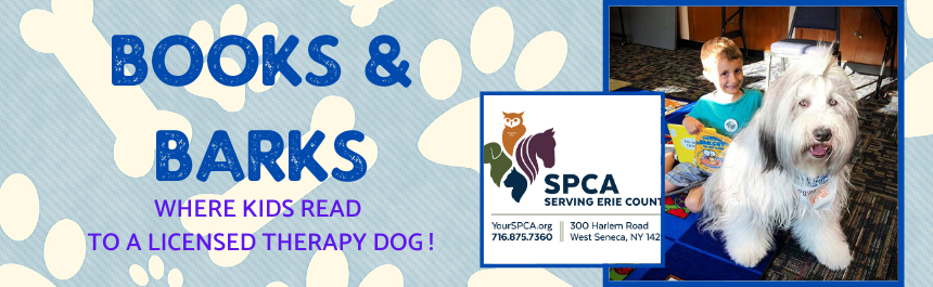 BOOKS AND BARKS WHERE KIDS CAN READ TO DOGS!