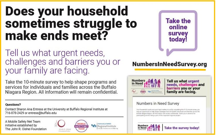 """Complete this Mobile Safety-Net Team community survey athttp://numbersinneedsurvey.org/and share what needs, challenges, and barriers you or your community face. Your input is important!"""""""