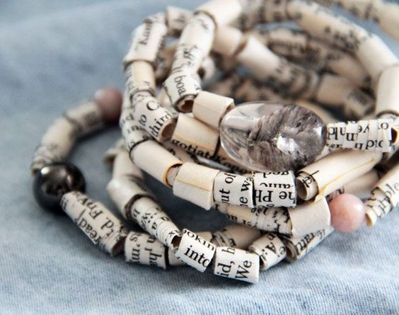 Book Page Beads