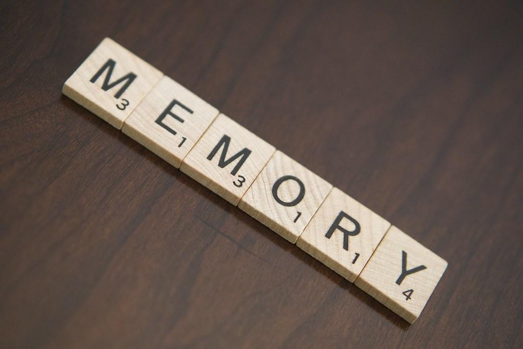 Memory Scrabble tiles