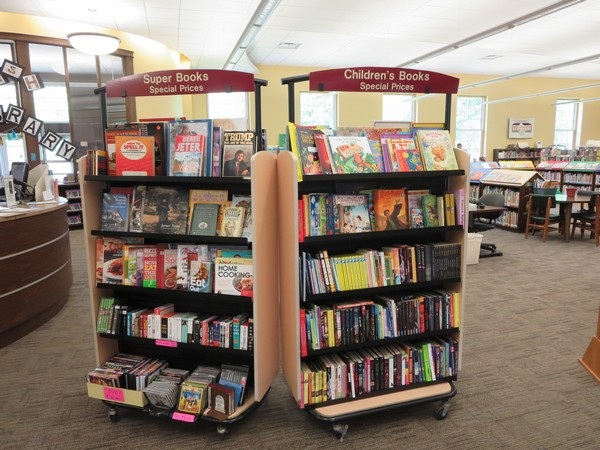 Friends of the Library special sale cart