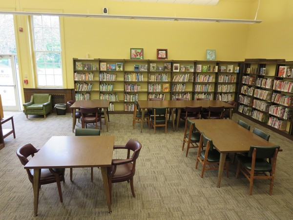 Study tables in the Children's Non-Fiction Section