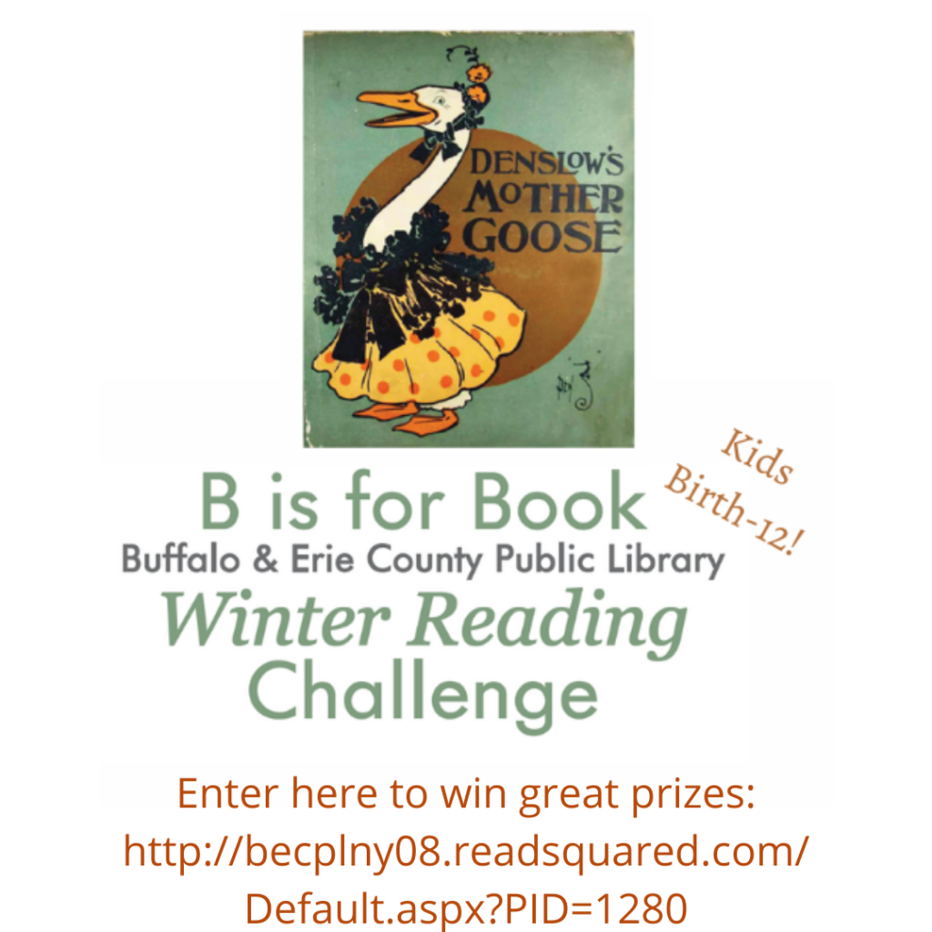 B is for Book Winter Reading Challenge runs January 1-March 5, 2021.