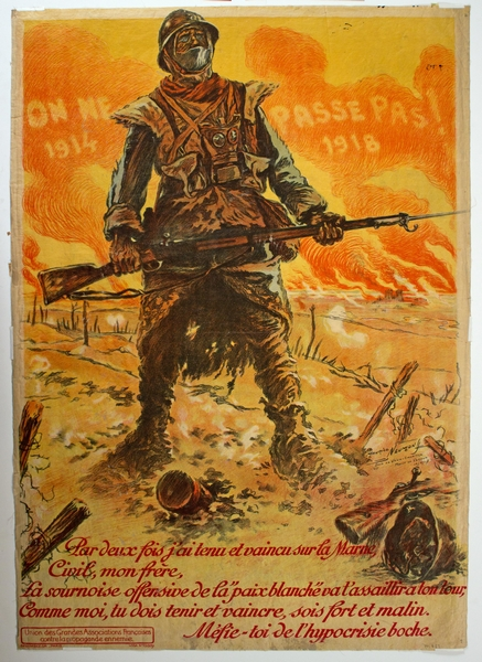 Poster for WWI Exhibit